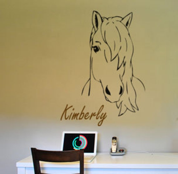 Horse decal-Pony decal-Horse sticker-Personalized decal-Personalized sticker-28 X 40 inches