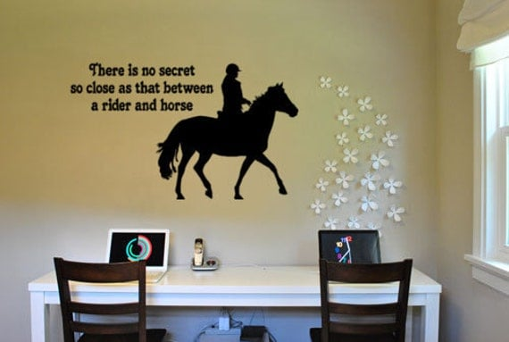 Horse decal-Horse quote sticker-Choose your horse style-45 X 27 inch vinyl wall decor