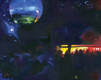 Blue Disco, Cielo, New York (original painting)