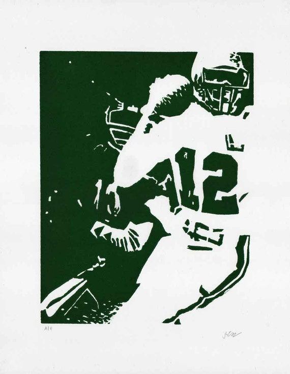 Randall Cunningham, Quarterback of the Philadelphia Eagles, one color print (artist proof)