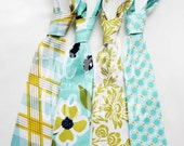 The Beau- modern meadow collection in pond- you choose your favorite necktie