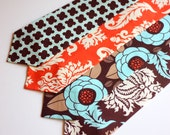 SALE- see shop for details- The Beau- men's aviary in saffron collection neckties- choose your favorite print