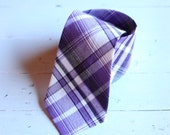 The Beau- purple preppy plaid necktie for boys of all ages