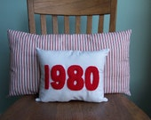 Personalized Year Pillows