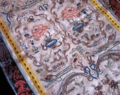 Vintage Oriental Embroidered Tapestry Blind Embroidery