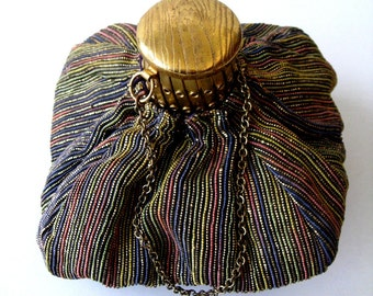 Vintage Accordian Purse Vintage Cloth Bag