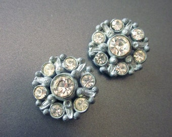 Paste Rhinestone Vintage Buttons, Button Lot