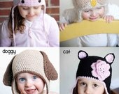 Animal Hat Patterns Collection 2 (Cat, Doggy, Owl and Cow)