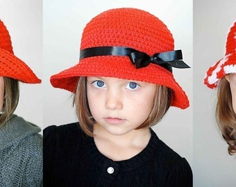 Basic Bucket Hat Crochet Pattern *Instant Download* (Permission to sell all finished products)