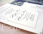 SALE : 100 Eco Friendly Custom Wedding Invitations 20% Off (Maggie & Bradley style)