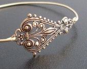 Bangle Bracelet Maylania, Antique Gold Finish, Boho Gypsy Bracelet, Boho Gypsy Jewelry, Boho Chic Jewelry, Boho Chic Bracelet, Gypsy Jewlery