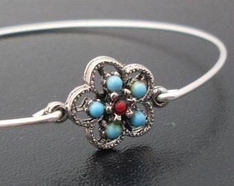 Bangle Bracelet Mexicana - Silver