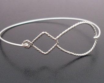 Bangle Bracelet Rebecca - Silver Bracelet Bangle, Artsy Jewelry, Modern Jewelry, Modern Bracelet, Minimalist Jewelry, Minimal Bracelet