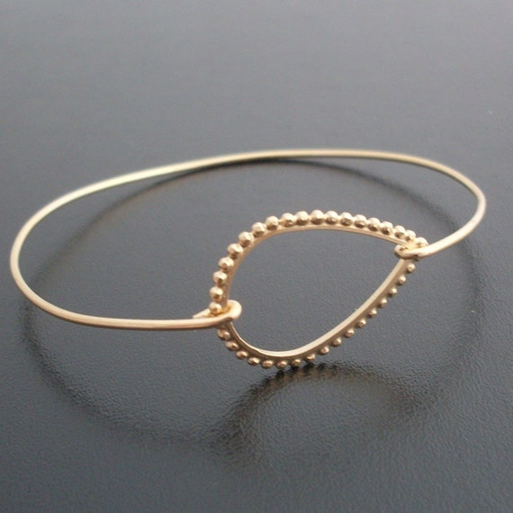 Tear Drop Bracelet, Adelia - Gold Tear Drop Bangle Bracelet, Tear Drop Jewelry, Gold Bracelet, Gold Bangle Bracelet, Teardrop Bracelet