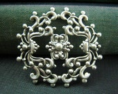 1 pc Openwork Stamping Frill Oxidized Silver 44mm