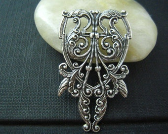 1 PC sturdy Elegant Victorian Centerpiece Oxidized Silver 44mm--15