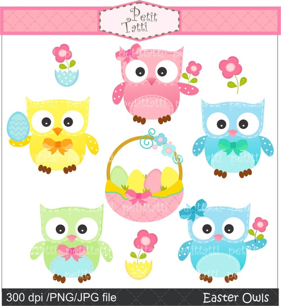free easter owl clip art - photo #4