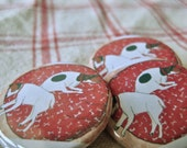 Two Jack Russell Dogs Sleeping on a Bed Pinback Button 1 1/4 inch