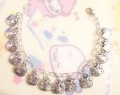 CUSTOM Hello Kitty Face Charm Bracelet Silver
