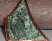 Fairy Medley Green Glass Brooch
