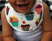 Sweet Cupcake Dribble Drool Baby Bib