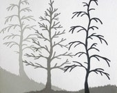Winter Birches Original Papercut