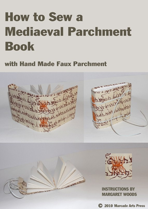 How To Sew Book Cover Tutorial : How to sew a mediaeval book with handmade faux parchment