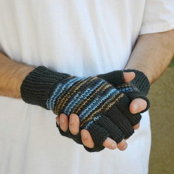 Men's fingerless gloves Coal & Ice