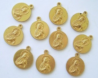 Religious Medal Medals Lot Our Lady Rosary Of Fatima Catholic Assemblage 10pc Vintage