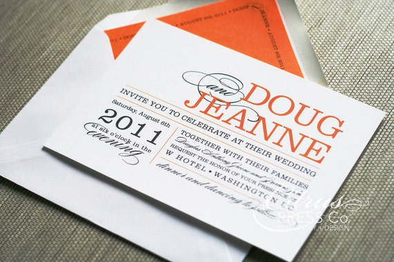 Text For Wedding Invitations: Items Similar To Wedding Invitation