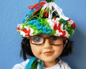 Multi Colored Knitted Hat for AMG & 18 Inch Dolls