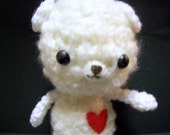 Amigurumi Teddy Bear - Snow