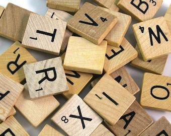 Scrabble Letters - Bulk Lot - 100 Letters