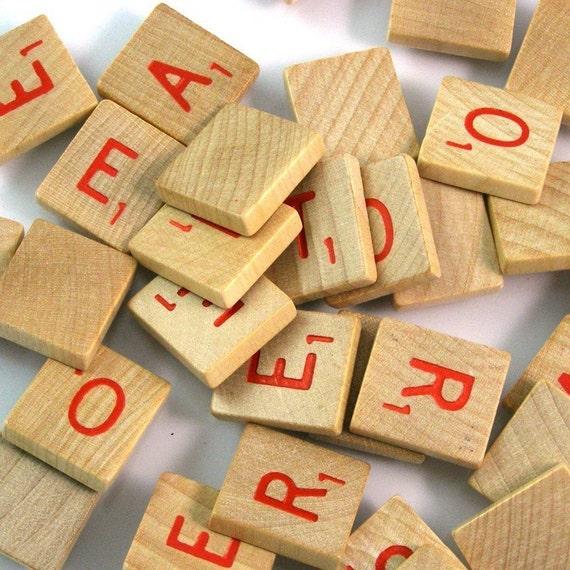 Red scrabble letters bulk lot by xosupplies on etsy for Bulk letters