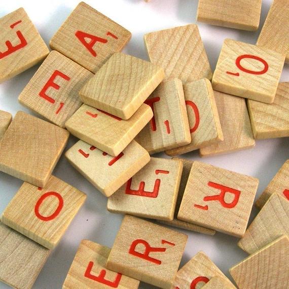 Red Scrabble Letters - Bulk Lot of 20