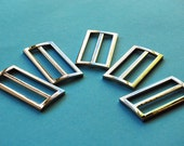 Set of five rectangular belt buckles - 2 inches