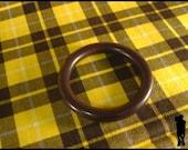 RESERVED FOR MAVENRAVEN Vintage Black Bakelite Rounded Chunky Bangle Bracelet