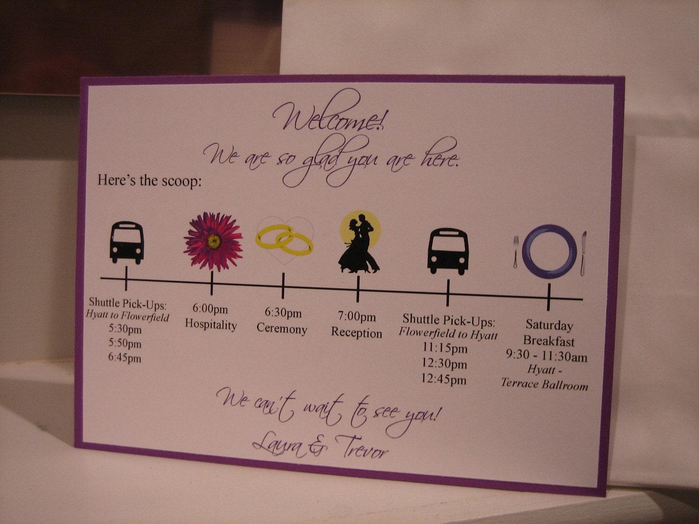 Wedding Hotel Bag Ideas: Wedding Welcome Card By JLDesigns718 On Etsy