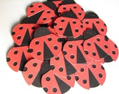 Red and Black Lady Bug Die Cuts - 25 two inch bugs