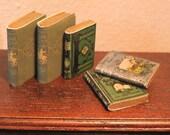 5 'VINTAGE' TRAVEL BOOKS Handmade Dolls House Miniatures 12th scale