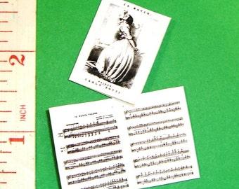 Dollhouse  SHEET MUSIC 'El Bacio' (the Kiss) 12TH Scale Miniature