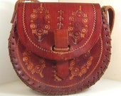 RESERVED FOR JODIE Vintage burgundy leather bag