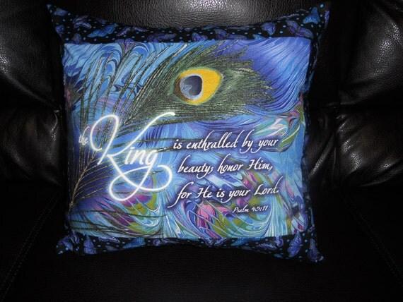 Bible Verse (Psalm 45:11) - Throw Pillow Cover