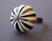 Retro Candy Stripe Vintage Ring