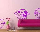 Cuty Cow Vinyl Wall Decal