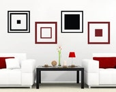 Cubes and Squares Wall Decals