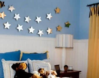 Mini Stars (Set of 20) acrylic mirrors - wall