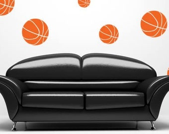 Double Dribble Vinyl wall decals (set of 16)