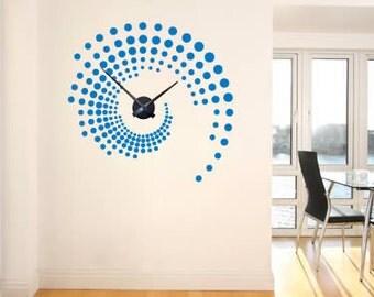 Swirl around the Clock wall decal