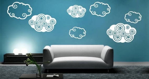 Dezign Clouds - Set of 12 wall stickers